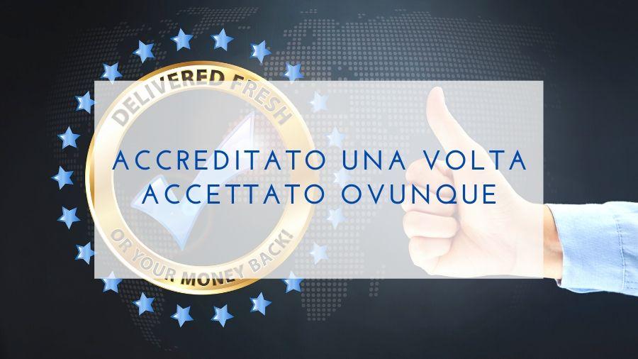 Accreditamento di Accredia valido nell'European Accreditation